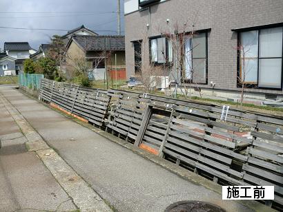 T様邸・ブロック塀・フェンス工事 施工前